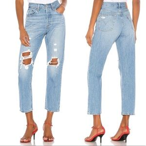 Levi's 501 Crop Jeans Montgomery Patched